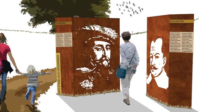 Erlebnisweg Wallensteins Lager: Zirndorf, Oberasbach und Stein bringen interaktives Konzept auf den Weg