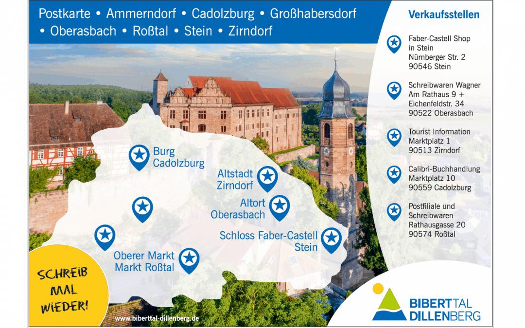 Schreib mal wieder: Postkarte der Kommunalen Allianz Biberttal-Dillenberg ab jetzt im Handel erhältlich