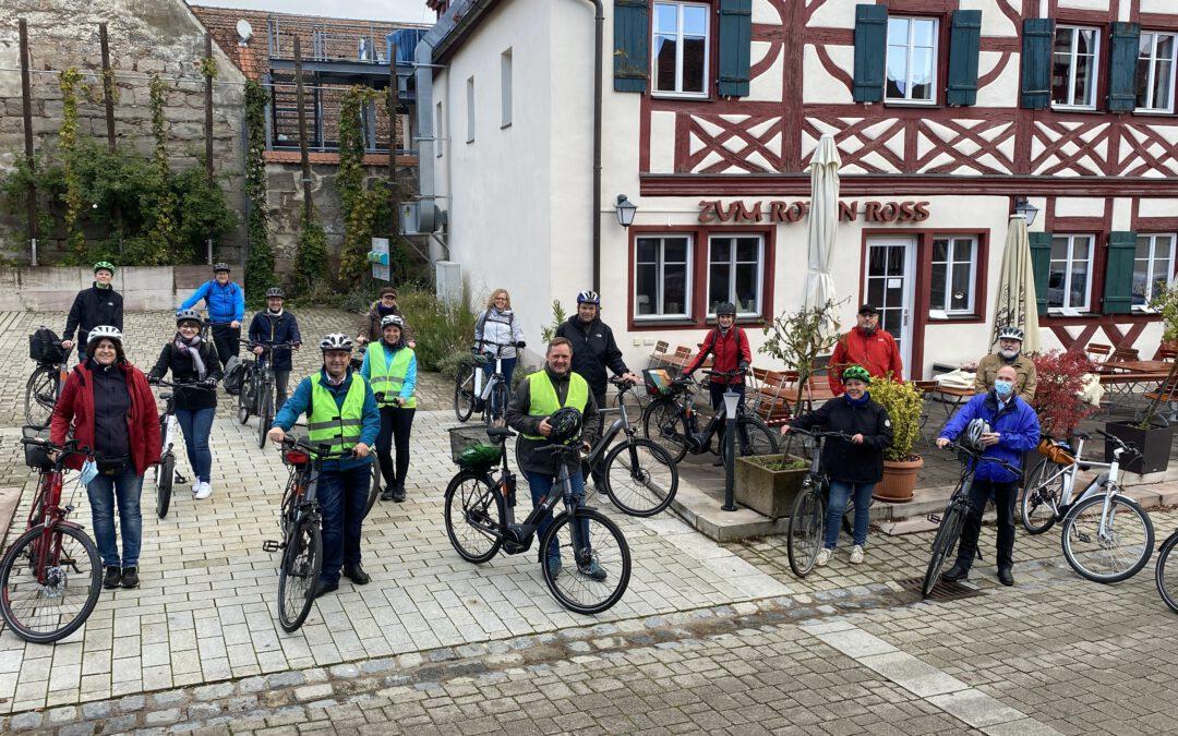 Allianztour mit dem E-Bike: Die Kommunale Allianz Biberttal-Dillenberg stellt Radwanderweg auf den Prüfstand